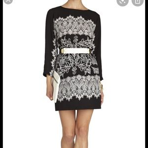 Long sleeve dress with elastic waist